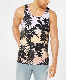 American Rag Men's Tonal Floral Tank, Created for Macy's