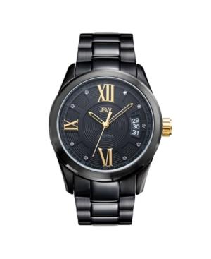 Men's Bond Diamond (1/10 ct.t.w.) Black Ion-Plated Stainless Steel Watch
