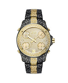JBW Men's Jet Setter Diamond (2 ct.t.w.) Black Ion-Plated Stainless Steel Watch