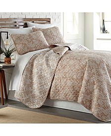 Boho Paisley Lightweight Reversible Quilt and Sham Set, Full/Queen