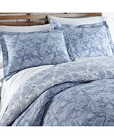 Perfect Paisley Down Alt 3 Piece Reversible Comforter Set, Twin/Twin XL