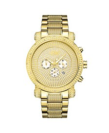 Men's Victor Diamond (1/6 ct.t.w.) 18k Gold Plated Stainless Steel Watch