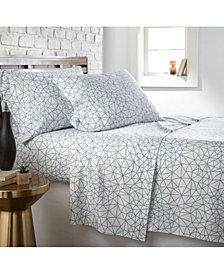 Southshore Fine Linens Geometric Maze 4 Piece Printed Sheet Set, California King
