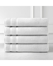 Southshore Fine Linens Premium Quality Classic Solid Colored 4 Piece Bath Towels, Towel Set