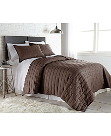 Southshore Fine Linens Oversized Brickyard Embroidered Quilt and Sham Set, Twin/Long