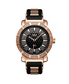 "Men's ""562"" Diamond (1/8 ct.t.w.) 18K Rose Gold Plated Stainless Steel Watch"