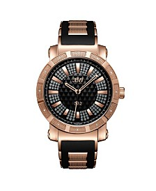 "JBW Men's ""562"" Diamond (1/8 ct.t.w.) 18K Rose Gold Plated Stainless Steel Watch"