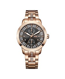 JBW Women's Lumen Diamond (1/20 ct.t.w.) 18K Rose Gold Plated Stainless Steel Watch
