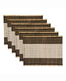 Urban Oasis Reed Placemat Set of 6