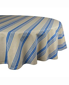 "Table cloth Sailor Stripe 70"" Round"