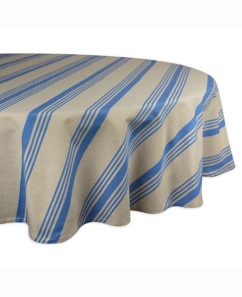 "Design Import Table cloth Sailor Stripe 70"" Round"