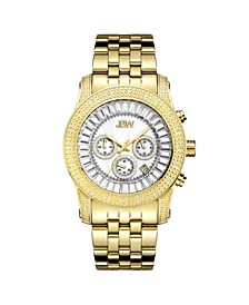 Men's Krypton Diamond (1/5 ct.t.w.) 18k Gold Plated Stainless Steel Watch