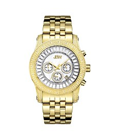 JBW Men's Krypton Diamond (1/5 ct.t.w.) 18k Gold Plated Stainless Steel Watch