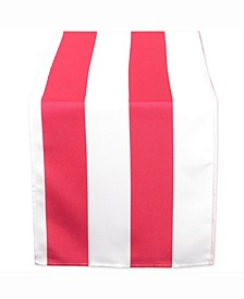 "Coral Cabana Stripe Outdoor Table Runner 14"" X 108"""