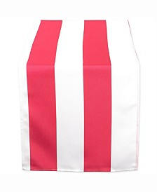 """Coral Cabana Stripe Outdoor Table Runner 14"""" X 108"""""""