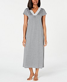 Super Soft Knit Lace-Trim Nightgown, Created for Macy's