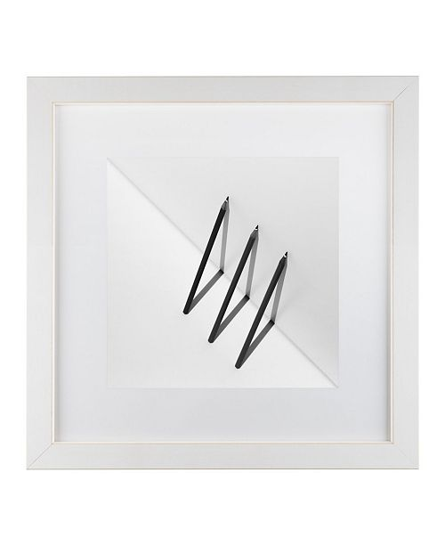 "Trademark Global Jacqueline Hammer 'Triangles' Matted Framed Art - 16"" x 16"" x 0.5"""