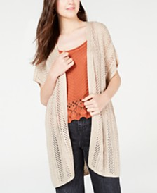 Hippie Rose Juniors' Pointelle Cardigan