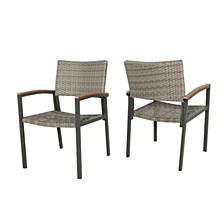 Luton Outdoor Dining Chair, Set of 2