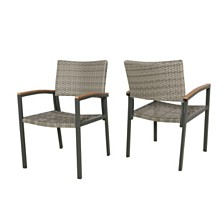 Luton Outdoor Dining Chair, Quick Ship (Set of 2)