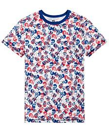 Little Boys Tossed Skull T-Shirt, Created for Macy's