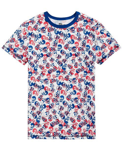 Epic Threads Little Boys Tossed Skull T-Shirt, Created for Macy's