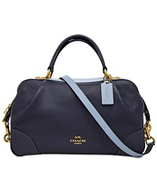 Colorblocked Leather Lane Satchel