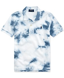 Polo Ralph Lauren Little Boys Tie-Dyed Cotton Mesh Polo Shirt