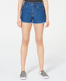 Tinseltown Juniors' Frayed Denim Shorts
