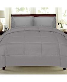 Solid Color Box Stitch Down Alternative Queen Comforter