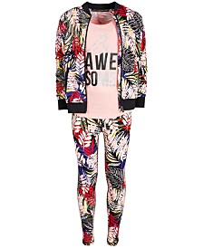 Ideology Big Girls Printed Bomber Jacket, Tank Top & Leggings