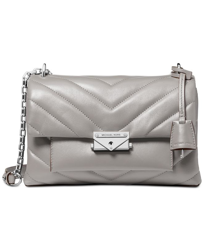 Michael Kors Cece Chevron-Quilted Leather Crossbody