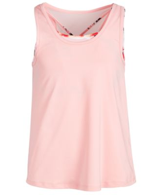 Big Girls Mesh-Back Layered-Look Tank Top, Created for Macy's
