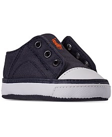 Polo Ralph Lauren Baby Boys' Rowenn Layette Slip-On Crib Sneakers from Finish Line