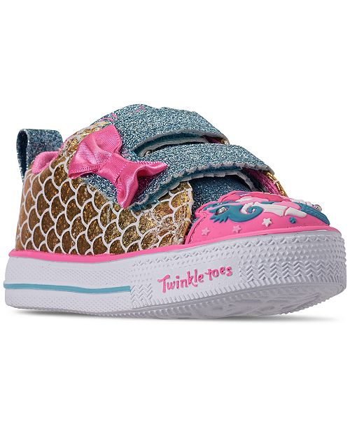 b5d3cea9775c ... Skechers Toddler Girls  Twinkle Toes  Shuffle Lite - Mermaid Parade  Casual Sneakers from Finish ...