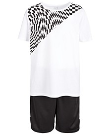 Big Boys Longer Graphic T-Shirt & Mesh-Trimmed Shorts