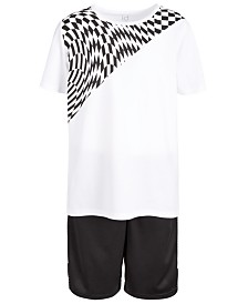 Ideology Big Boys Longer Graphic T-Shirt & Mesh-Trimmed Shorts