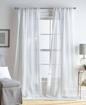 "Martha Stewart Hampton Stripe Pole Top 50"" x 84"" Curtain Panel"