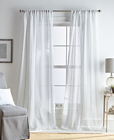 Martha Stewart Hampton Stripe Pole Top Curtain Panel Collection