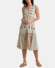 Luna Border Printed Dress