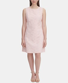 Tommy Hilfiger Cotton Eyelet A-line Dress