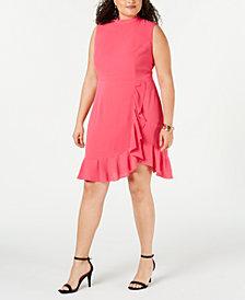 Betsey Johnson Trendy Plus Size Ruffled Dress