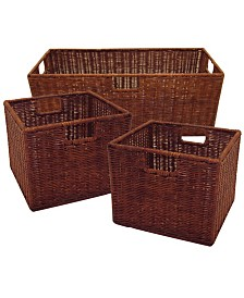 Winsome Leo Set of 3 Wired Baskets, 1 Large and 2 Small