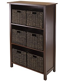 Granville 7Pc Storage Shelf, 3-Section with 6 Foldable Baskets
