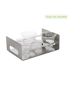 6 Slot Cup Holder Tray with Cutout Handles
