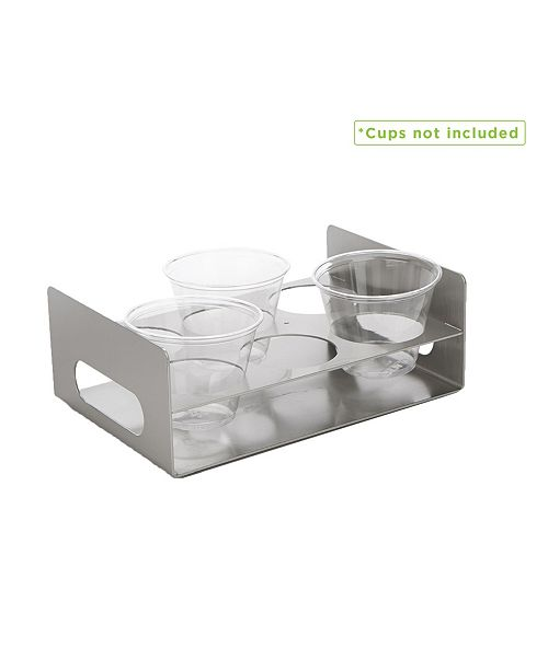 Mind Reader 6 Slot Cup Holder Tray with Cutout Handles