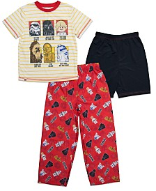 Lego Star Wars Little and Big Boys 3 Piece Pajama Set