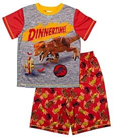 Lego Jurassic World Little and Big Boys 2 Piece Short Pajamas Set