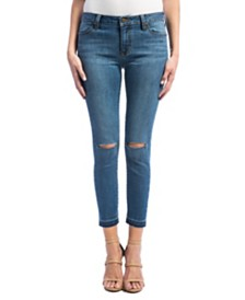 Avery Release Hem Crop In Vintage Stretch Denim