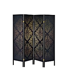 Beaumont 4-Panel Folding Floor Screen
